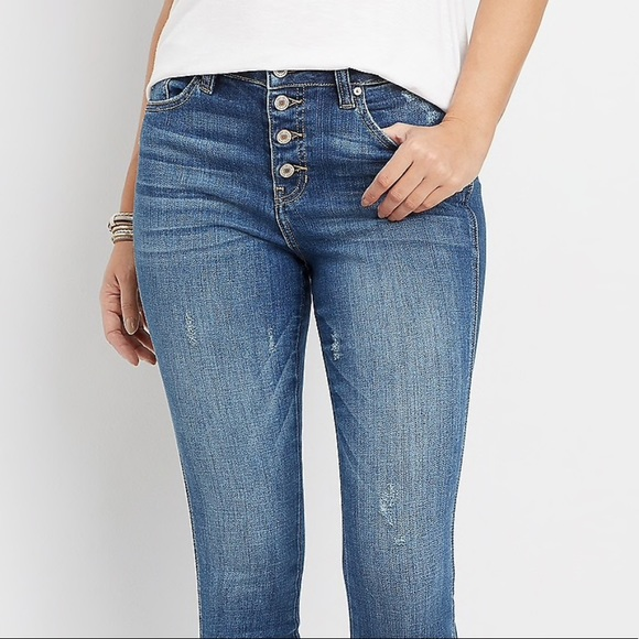 KanCan Denim - KANCAN high waist skinny jeans blue denim STRETCH